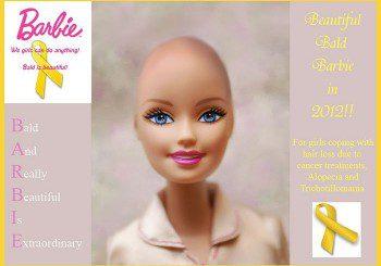 Плешива Барби дава кураж на децата, болни от рак