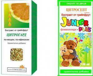 Цитрогард и Цитросепт джуниър плюс съдържали неразрешен дезинфектант