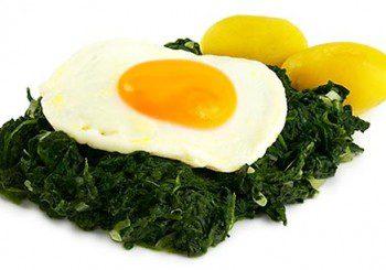 За бързи рефлекси - спанак, яйца и сирене