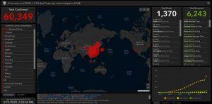 карта на коронавирус в реално време